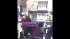 Arab girl blowjob in shop