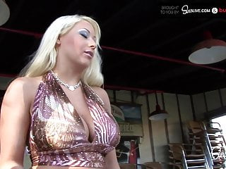 Candy manson fucks bf son Busty blonde waitress bimbo candy manson gets drilled