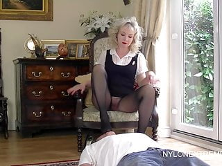 Milf nylon stocking - Smothered in pantyhose and nylon handjob