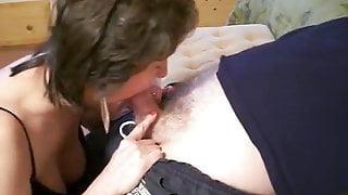 Granny Carol sucking cock