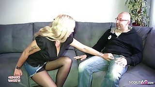 German Step Mom Seduce the Teacher of her Daughter to Fuck