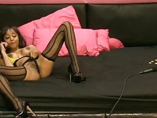 Tv show spank Alyssa divine masturbation in adult tv show