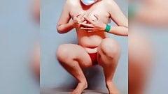 Horney girl unclothing (totally naked) tharki ladki