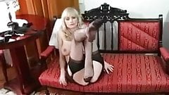 Carol teasing you with her sexy RHT stockings