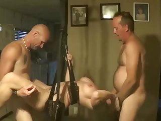 Swinging threesome - Homemade swingers sex swing threesome