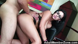 AdultMemberZone - A Massage Gets This Busty Babe Horny as Fu