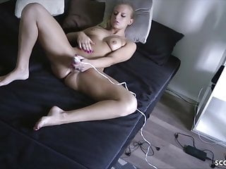 Caught sister fuck dog - German step sister caught masturbate and get fuck by bro