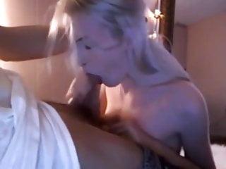Internal cum suprise Amateur blonde got suprised by cum in mouth