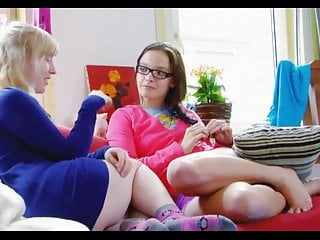Teens masterbating each other - Two cute young lesbians enjoy each other