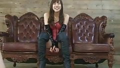 Japanese Femdom slap slaves and face sitting