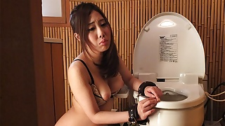 Hot Yui Shiina is getting stimulated with two sex toys