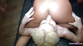 Pussy Bukkake Swallow GB01 Party with Curvy Girl Bella X