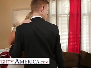 Friday interracial anal porn Naughty america - candice dare gets a black friday discount