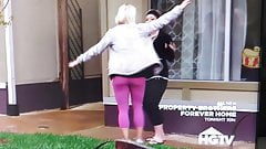 HGTV whooty booty in leggings. Fit, tight ass