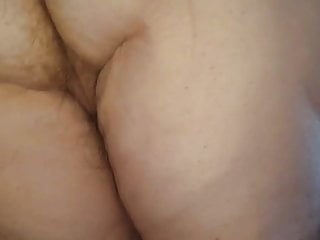 Sex pubes - On her knees,long hairy pubes on her ass pussy