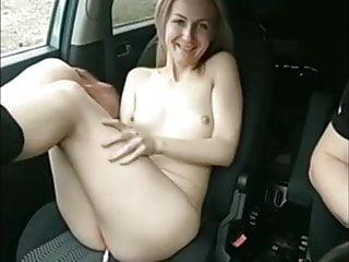 Nude car cirls Nude in a car
