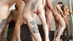 EIGHT HOT GUYS FUCKED HARD AND PISSED OFF MONICA FOX 3