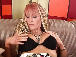 Sperm meets the egg - Sexy blonde milf meets the