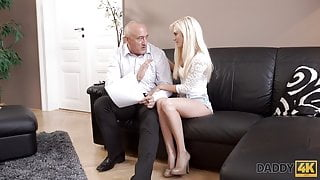 DADDY4K. Blonde cutie Candee Licious wants to have hot sex