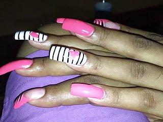 Long fingernails blowjob handjob Super sexy long fingernails nails toenails