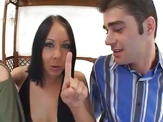 Female licking pussy Female fucks him with black toy