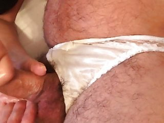 Hardcore panty handjob Nylon panty handjob