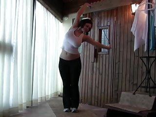 Big tits jumping rope video Busty babe jumping rope topless