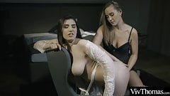 Sultry lesbians fuck in sexy lingerie