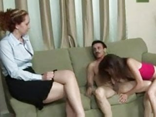 Matur fuck young - Old guy asks wife to watch him fuck young slut
