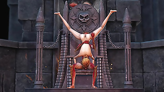 Lilith fucks hard her young sex slave in the dark castle