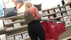 thick college blonde pawgs at target
