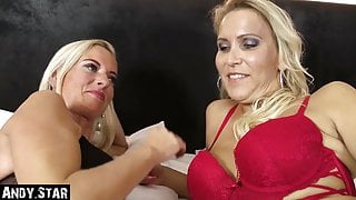 2 MILFS FROM GERMANY FUCK WITH TOYBOY