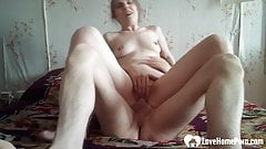 Babysitter rides a cock in hardcore fashion
