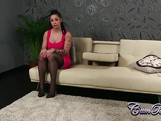 Kimmy handjob and cum Kimmie plays with swallows cum