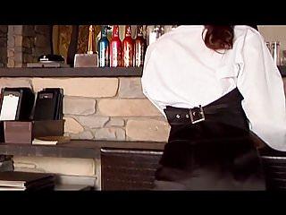 Sexy nude stockings Risa sexy barmaid - pantyhose upskirt non-nude