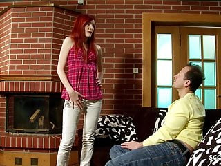 Mom and daugther fucking - Skinny redhead step daugther maggie talk to fuck by dad