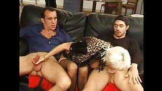 FRENCH MATURE 27 anal blonde stepmom milf with 2 younger men