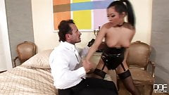 Asian Lady Fuck In Sexy Latex