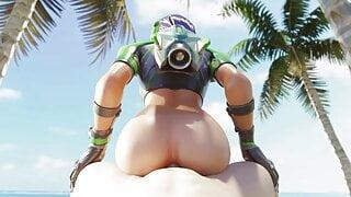 3D Hentai Compilation: Widowmaker Sombra Lesbian Fuck