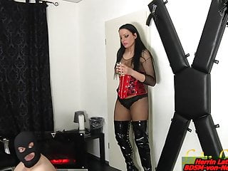 Latex piss fetish movies - Spitting and piss from german bdsm fetish domina for slave