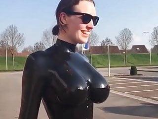 Huge Tits Latex Suit
