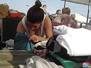 Adult cat flea - Local flea market down blouses