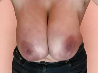 Front view of saggy hanging tits Huge hanging tits 61