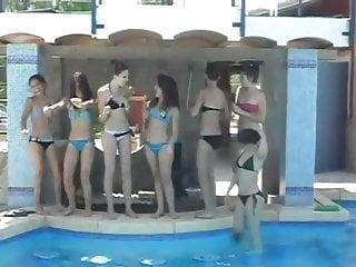 Bikini dancing girl hot Bikinis hot dance