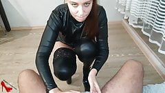 mature Sex with Gorgeous Brunette - Cum in Mouth milf