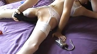 wife tied, fucked, and satisfied with big dildo