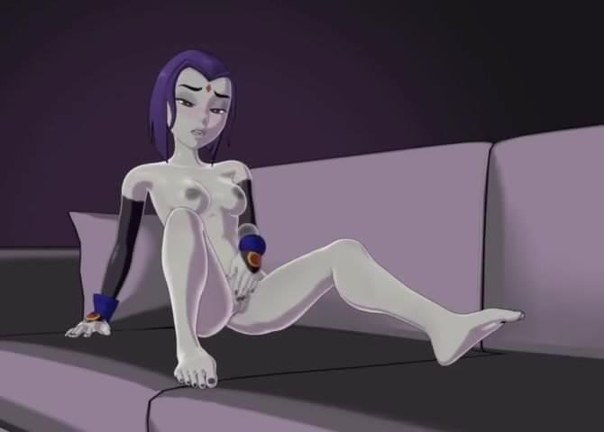 Teen Titans Raven Masturbates
