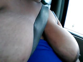 Drive female natural sex supplement Huge tits and areolas while driving