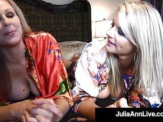 Vicky fuck fck Busty blonde bombshells julia ann vicky vette tongue fuck