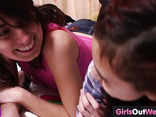Teeny teen lesbians Hairy teenies pussy licking scissoring